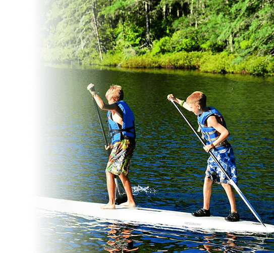 AWC Summer Day Camp Stand Up Paddle Boarders